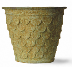 Fishscale Pot Fibreglass In Terracotta Finish From potstore.co.uk